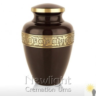 Chocolate Brown Urn