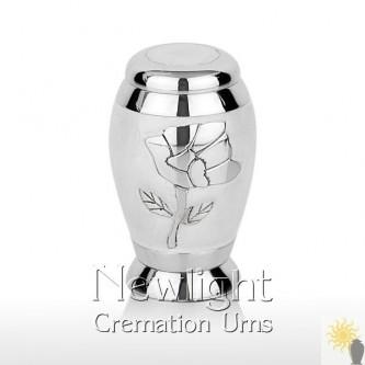 White Pearl Rose Mini Urn (3inch)
