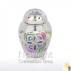 Rainbow Flower Mini Urn (3inch)