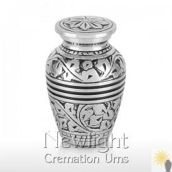 Silver Leaf Mini Urn (3inch)