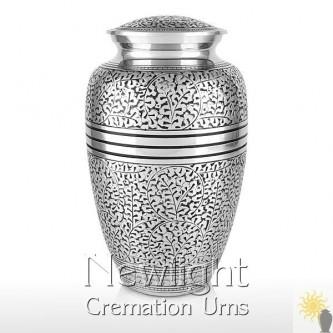 Silver Leaf Urn