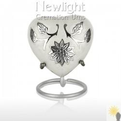 White Lotus Flower (3inch Heart)