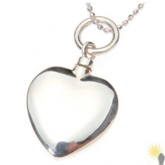 Mayfair Heart - Sterling Silver Ash Pendant