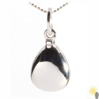 Mayfair Teardrop - Sterling Silver Ash Pendant