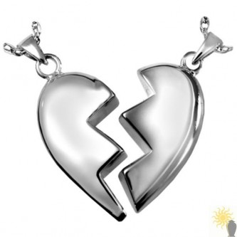 Kensington Companion Heart - Sterling Silver Ash Pendant