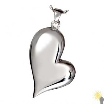 Kensington Heart Tear - Sterling Silver Ash Pendant