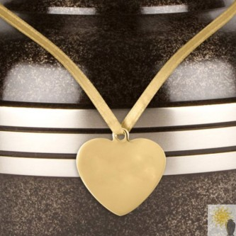 Heart Shaped Brass Urn Medallion
