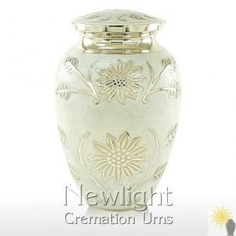 Pearl Lotus Flower Urn