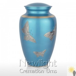 Pewter Butterfly Urn