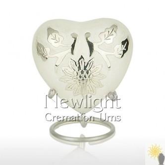 Pearl Lotus Flower (3inch Heart)
