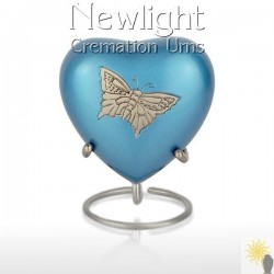 Pewter Butterfly (3inch Heart)