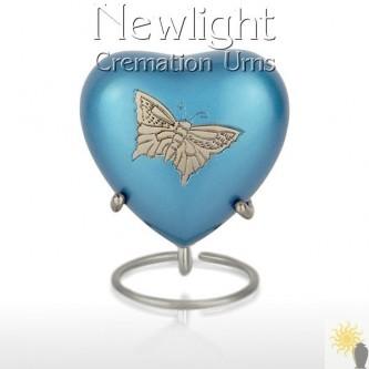 Pewter Butterfly (3inch Heart)