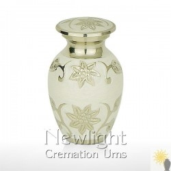 Pearl Lotus Flower Mini Urn (3inch)