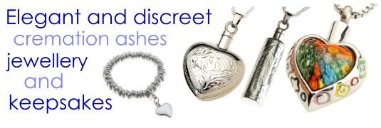 stunning cremation jewellery