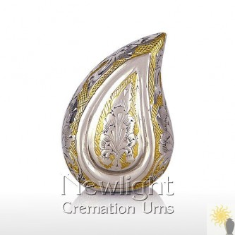 Gold And Silver Tear Mini Urn (3inch)