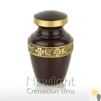 Chocolate Brown Mini Urn (3inch)