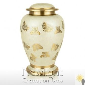 Pearl Butterfly Urn