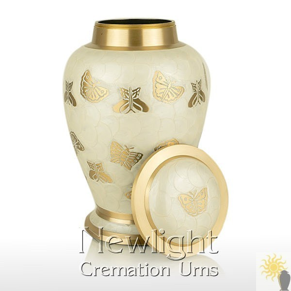 Pearl Butterfly Cremation Urn - Urns For Ashes