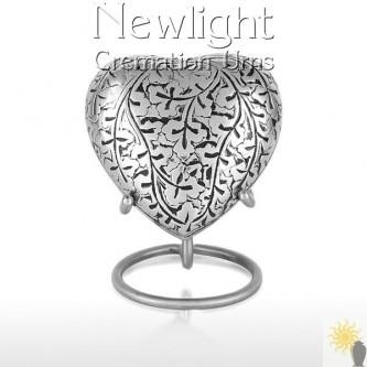 Silver Leaf (3inch Heart)