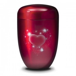 Forever in my heart Urn - Red