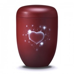 Forever in my heart Bio Urn - Red