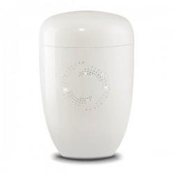 White Crystal Cosmos Urn