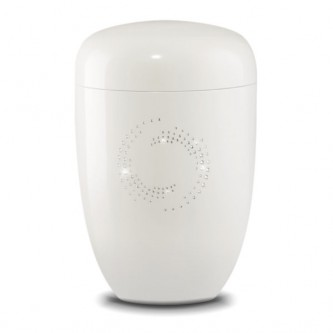 White Crystal Cosmos Urn