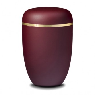 Rich Burgundy Urn