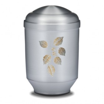 Frosted Leaves Urn