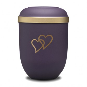 Blueberry Heart Bio Urn