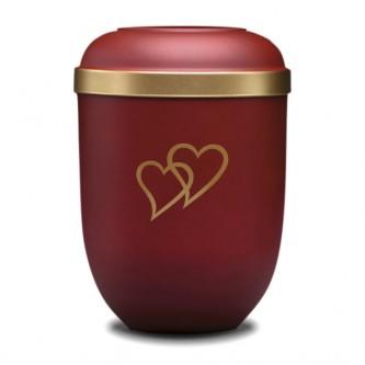 Maroon Heart Bio Urn