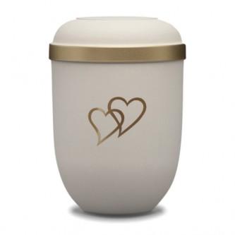 Cream Heart Bio Urn