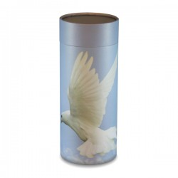 White Dove Scatter Tube - Large