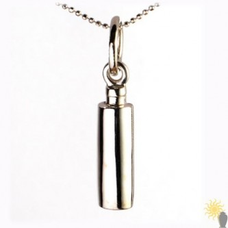 Mayfair Cylinder - Sterling Silver Ash Pendant