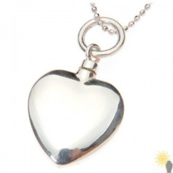 Mayfair Heart - Sterling Silver Ash Pendant