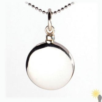 Mayfair Round - Sterling Silver Ash Pendant