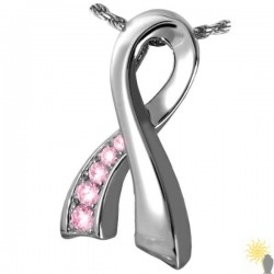 Kensington Memorial Pink Ribbon - Sterling Silver Ash Pendant