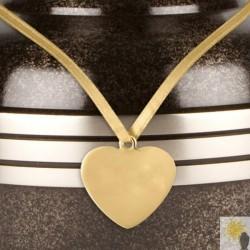 Heart Shaped Brass Urn Medallion