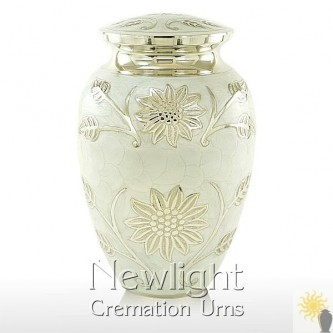 Pearl Lotus Flower Urn