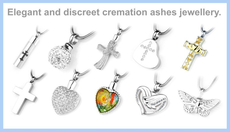 Elegant and discreet cremation ashes jewellery.