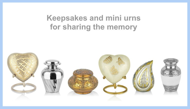 Keepsakes and mini urns for sharing the memory