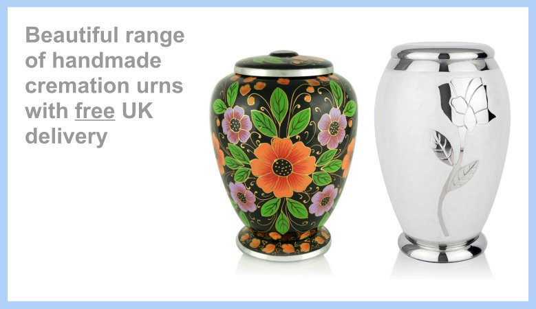 Beautiful range  of handmade cremation urns with free UK delivery